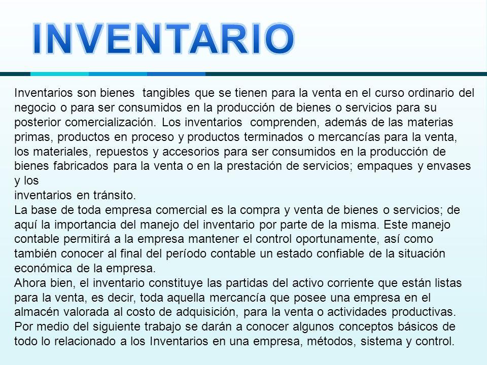 El control interno sobre los inventarios es importante, ya que los inventarios son el aparato circulatorio de una empresa de comercialización.