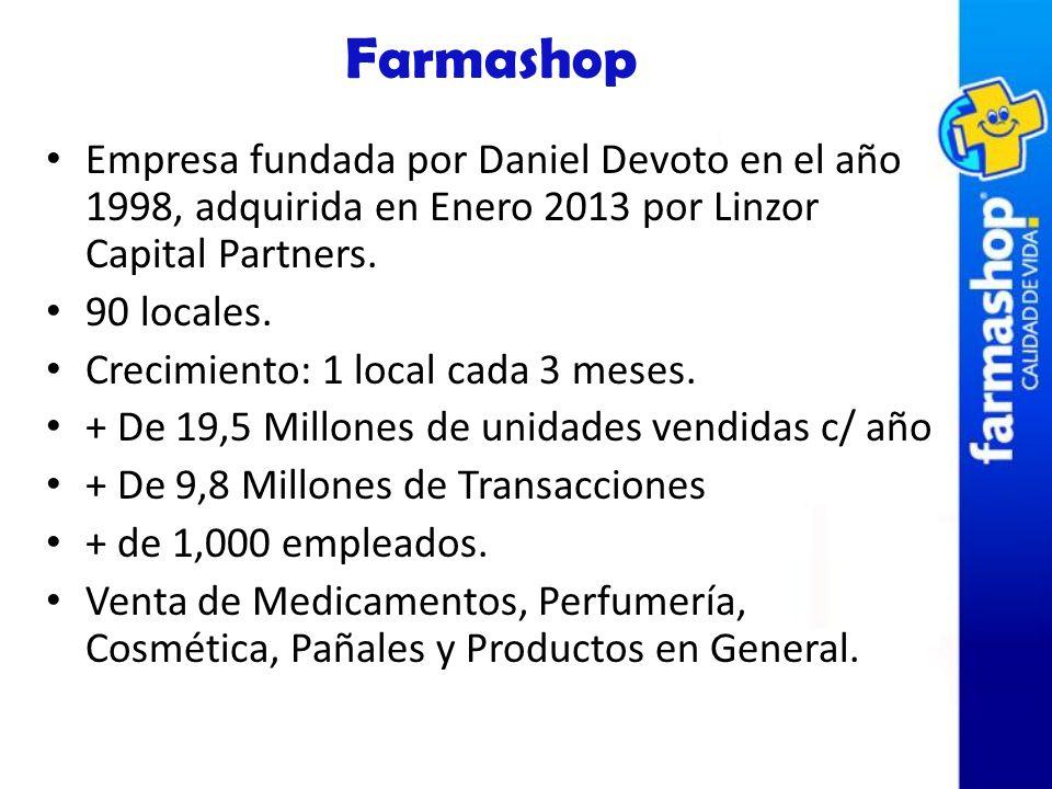 Empresa fundada por Daniel Devoto en el año 1998, adquirida en Enero 2013 por Linzor Capital Partners. 90 locales. Crecimiento: 1 local cada 3 meses.