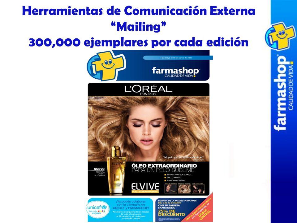 Herramientas de Comunicación Externa Mailing 300,000 ejemplares por cada edición