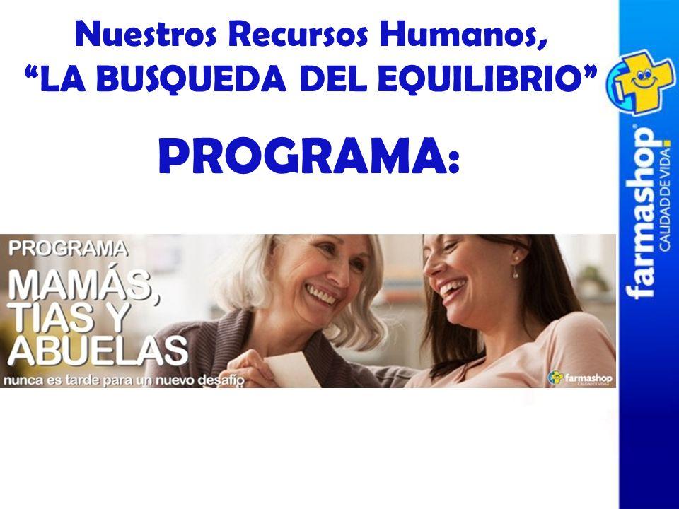 PROGRAMA: Nuestros Recursos Humanos, LA BUSQUEDA DEL EQUILIBRIO