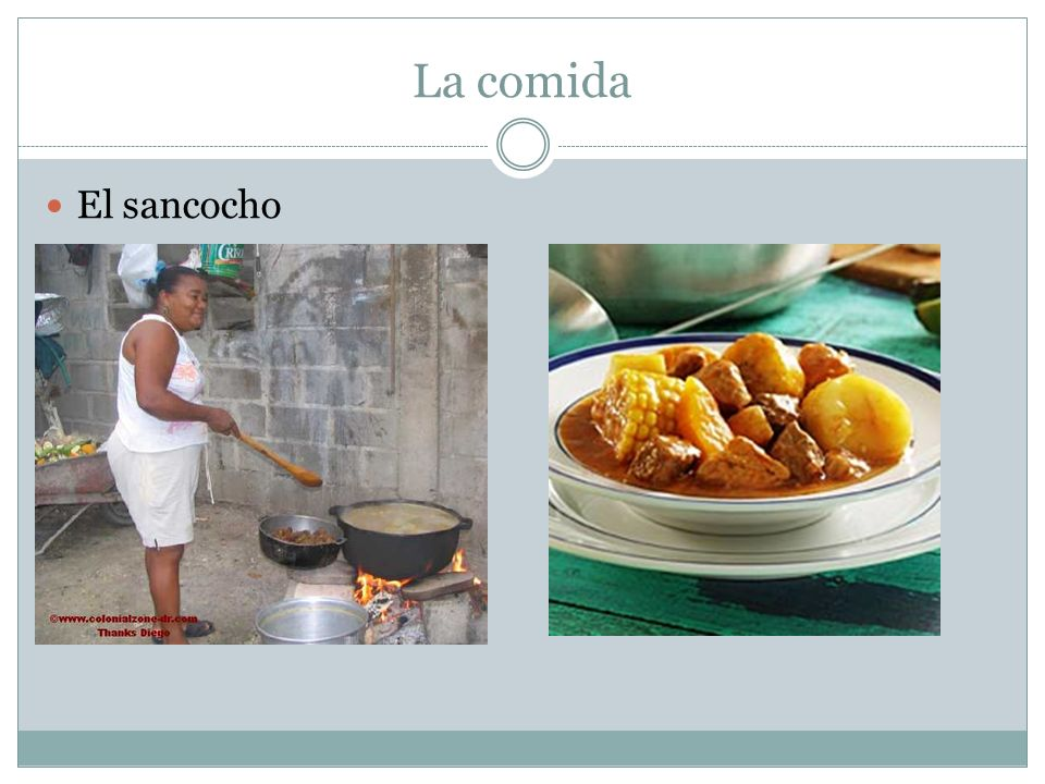 La comida El sancocho