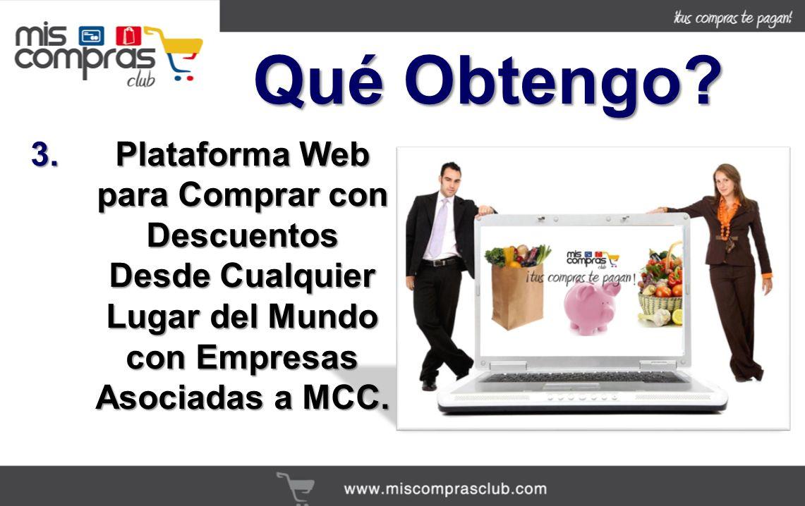 3.Plataforma Web para Comprar con Descuentos Desde Cualquier Lugar del Mundo con Empresas Asociadas a MCC.