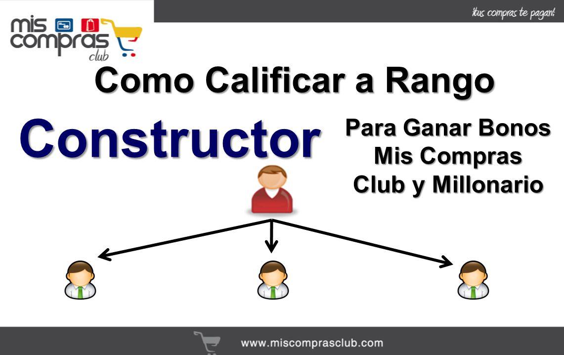 Como Calificar a Rango Constructor Para Ganar Bonos Mis Compras Club y Millonario
