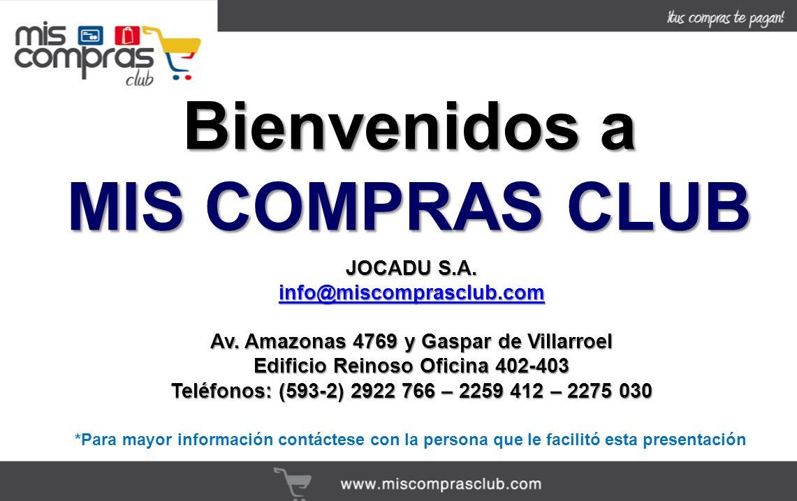 JOCADU S.A.info@miscomprasclub.com Av.