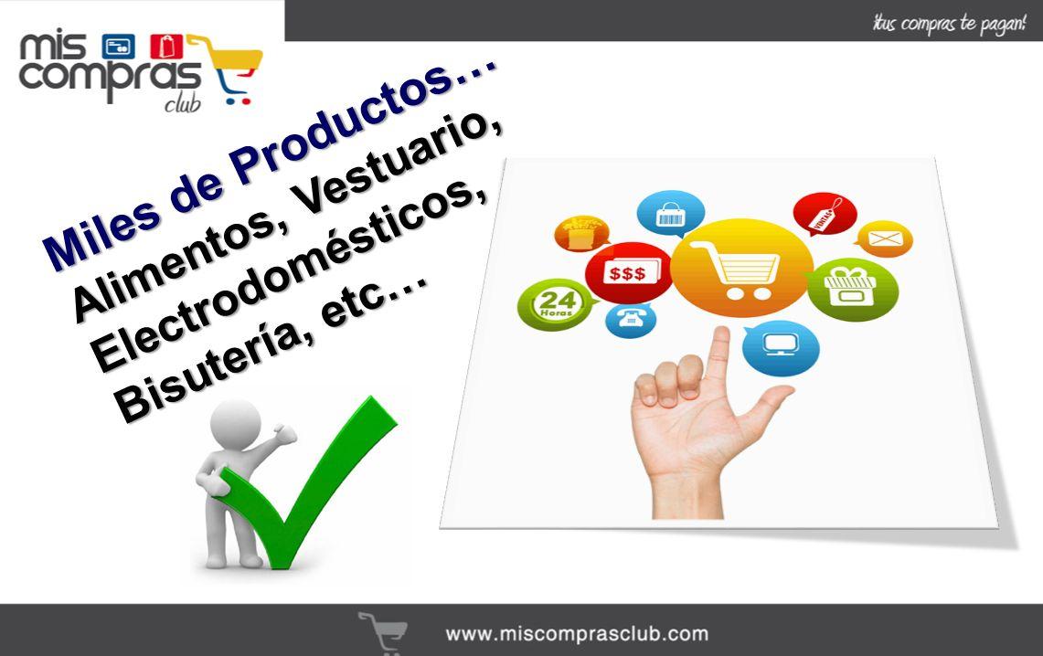 Miles de Productos… Alimentos, Vestuario, Electrodomésticos, Bisutería, etc…