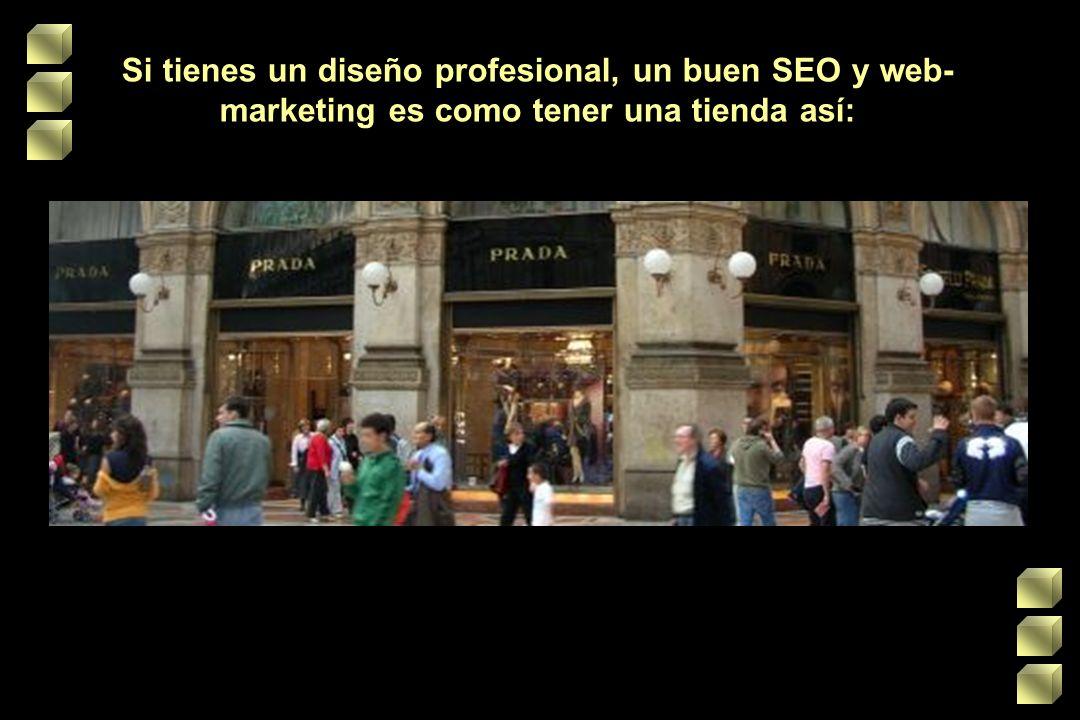Si tienes un diseño profesional, un buen SEO y web- marketing es como tener una tienda así: