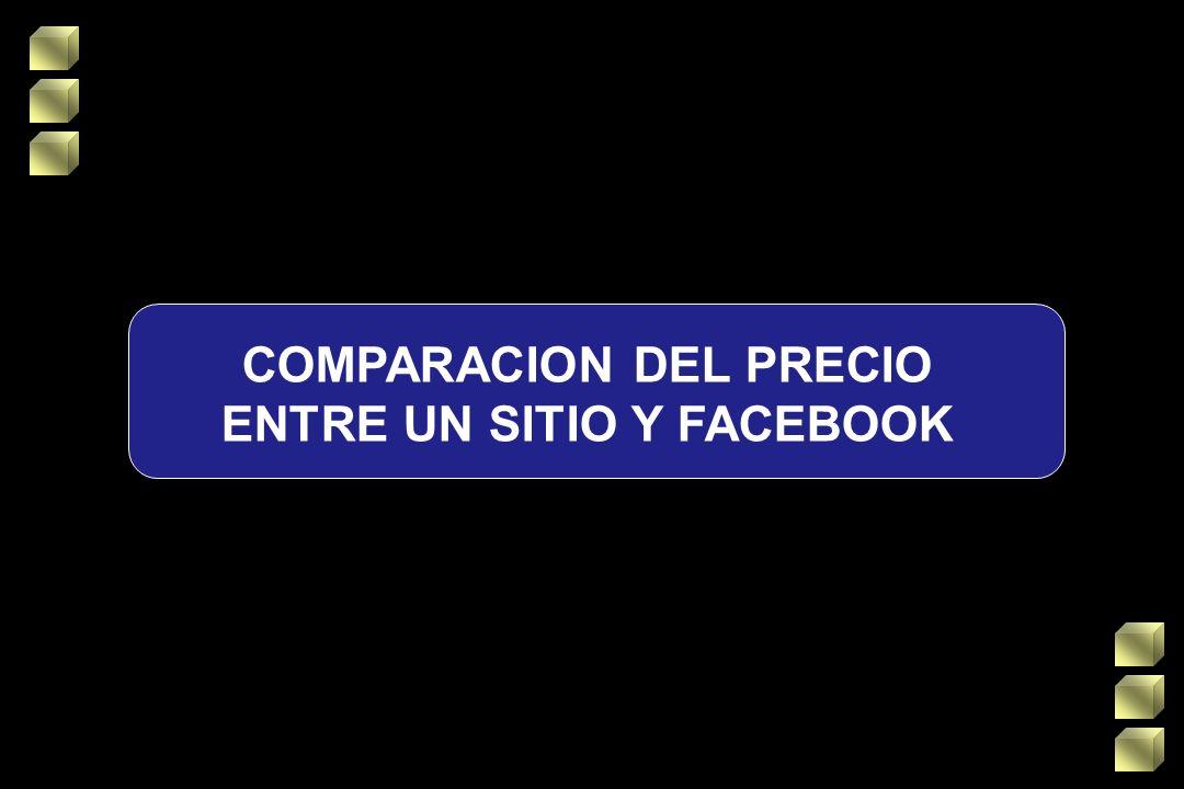COMPARACION DEL PRECIO ENTRE UN SITIO Y FACEBOOK