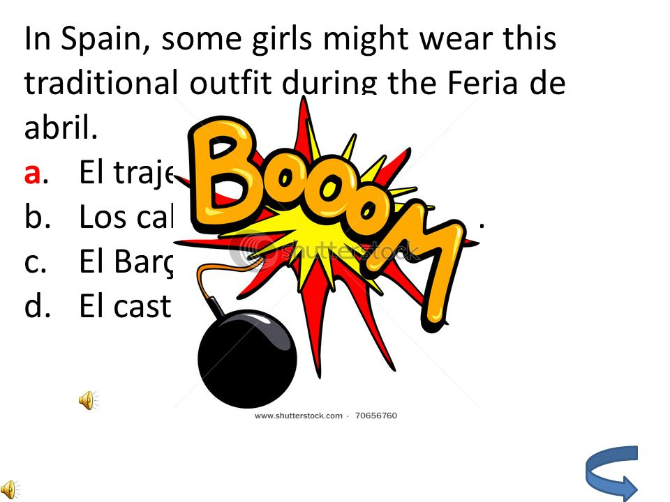 In Spain, some girls might wear this traditional outfit during the Feria de abril.