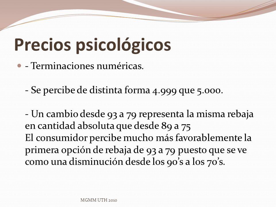 Precios psicológicos - Cambio en el número de dígitos.