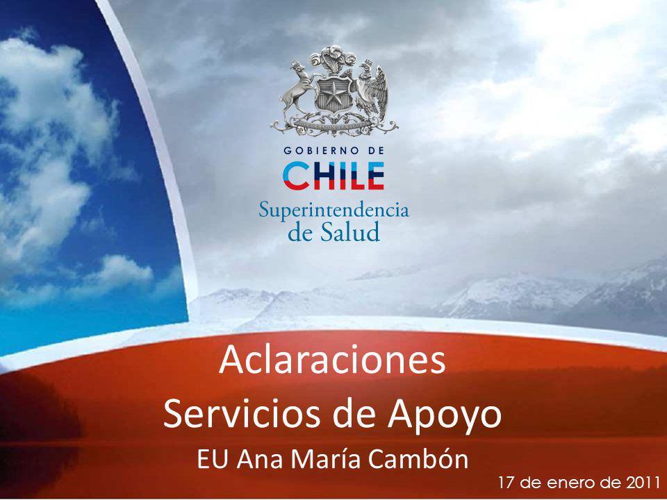 26-03-10 Aclaraciones Servicios de Apoyo EU Ana María Cambón 17 de enero de 2011