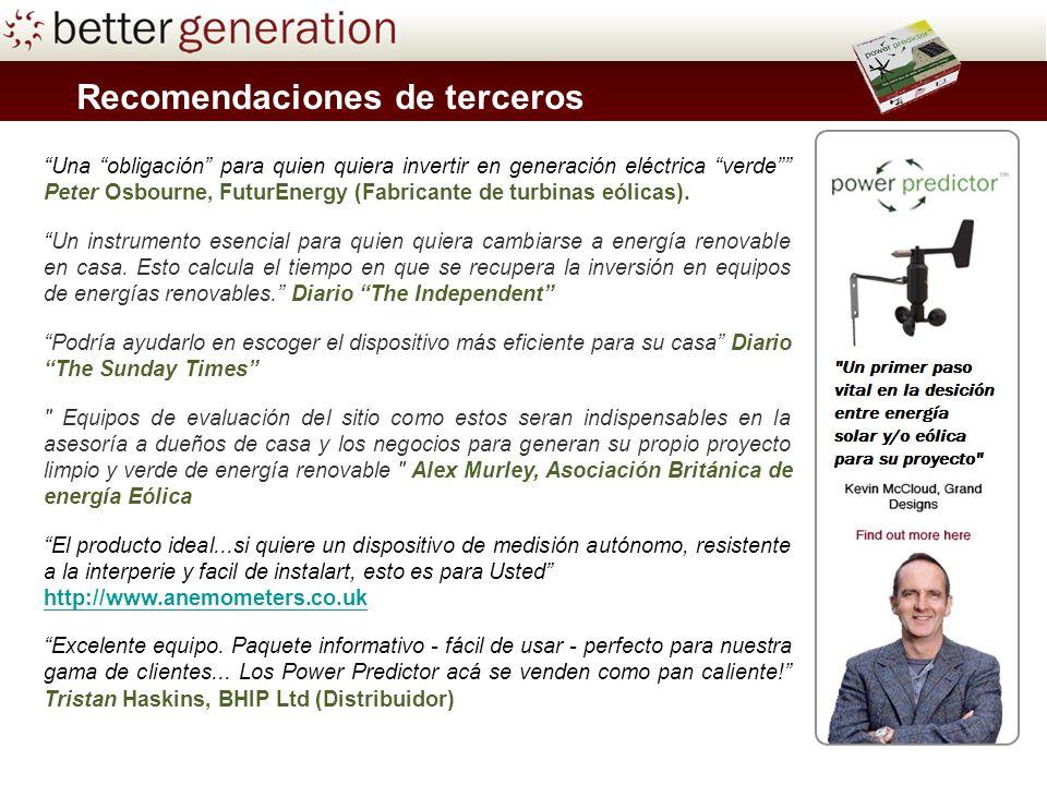 Una obligación para quien quiera invertir en generación eléctrica verde Peter Osbourne, FuturEnergy (Fabricante de turbinas eólicas).
