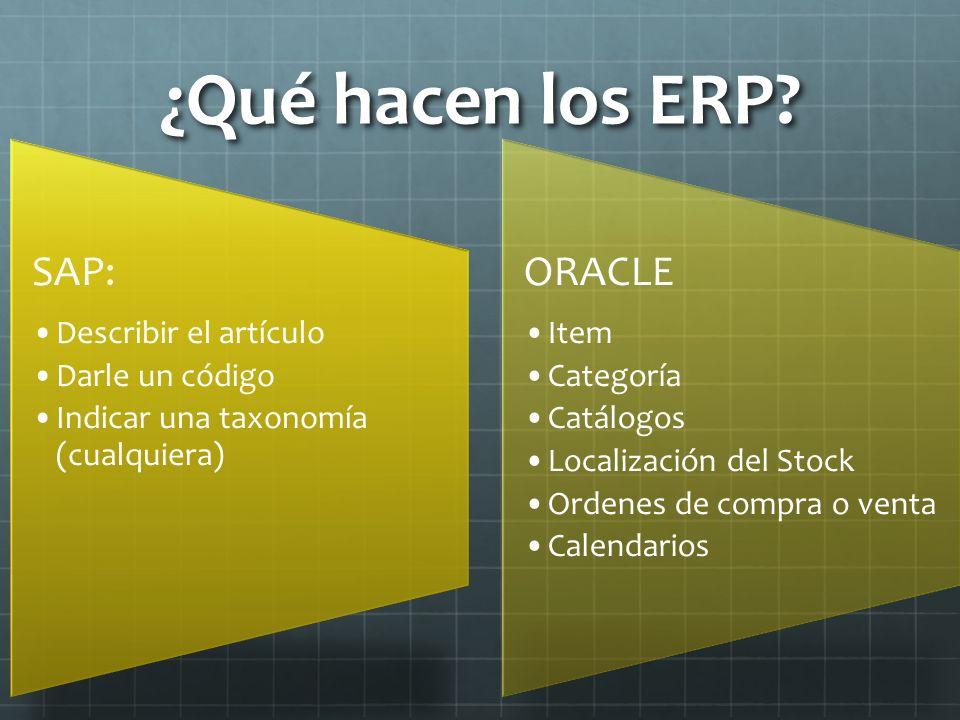¿Qué hacen los ERP.