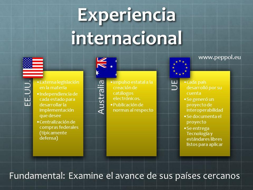 Experiencia internacional EE.UU.
