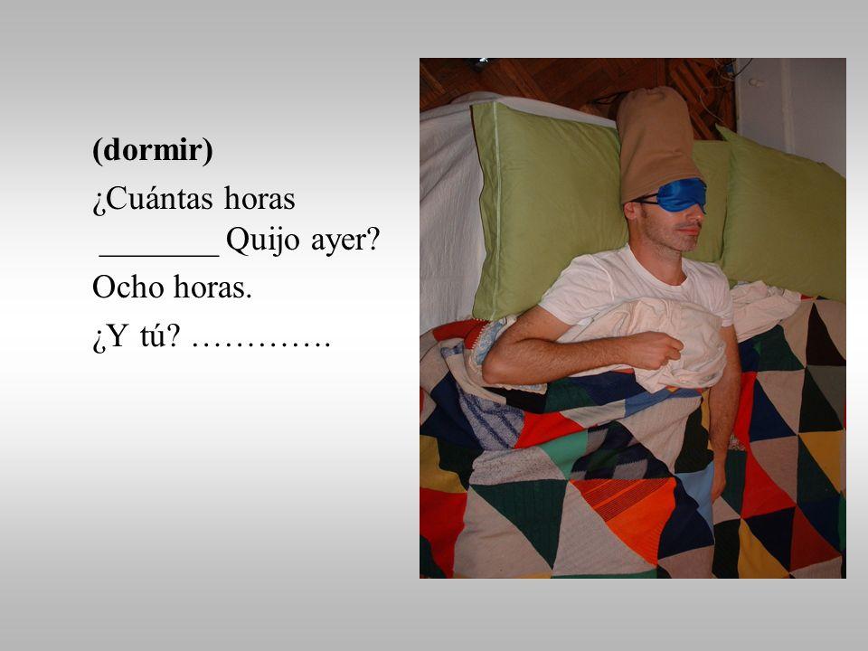 ¿Qué hizo Quijo el domingo pasado Usos del Pretérito Indefinido FS5H-2009