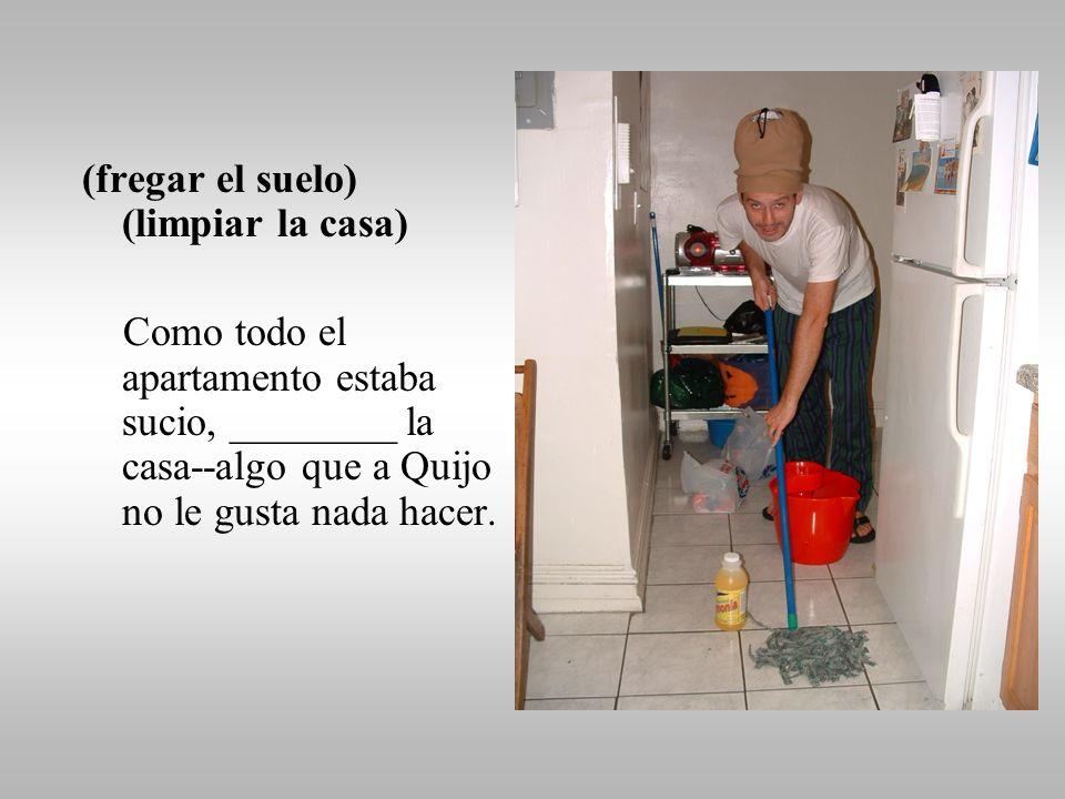 (lavar los platos) Después de comer, ______ los platos, vasos, cubiertos y sartenes sucias.