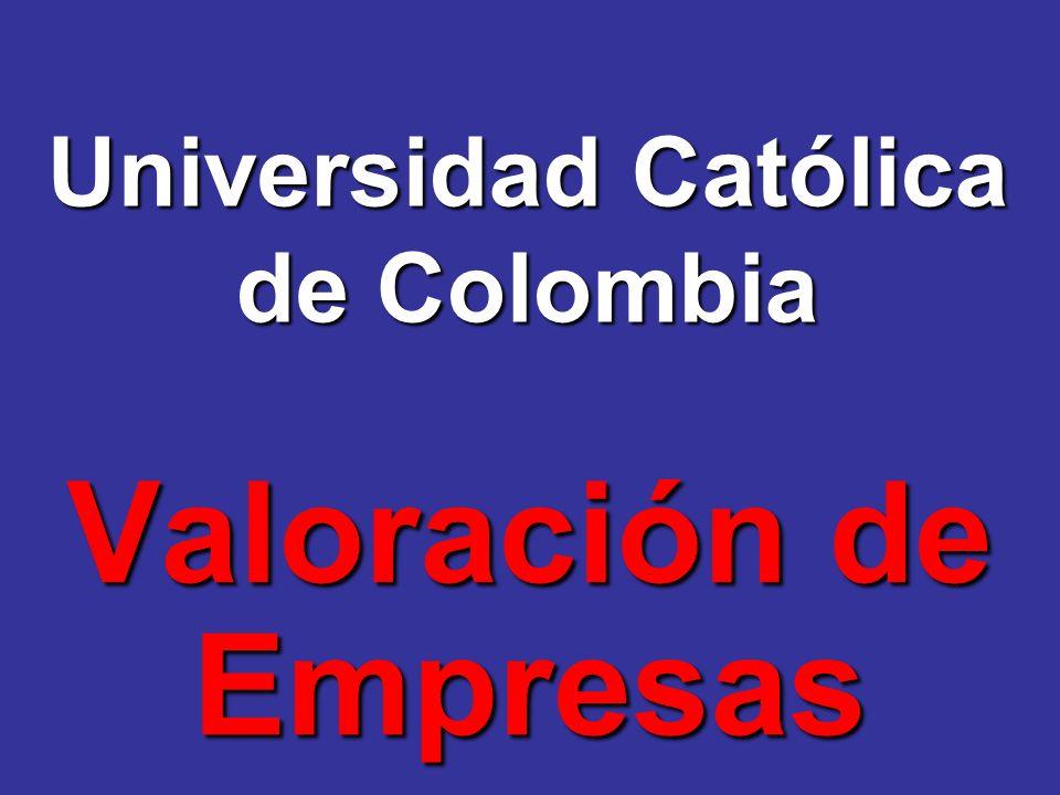 Universidad Católica de Colombia Valoración de Empresas