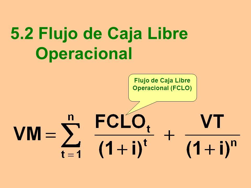5.2 Flujo de Caja Libre Operacional Flujo de Caja Libre Operacional (FCLO)