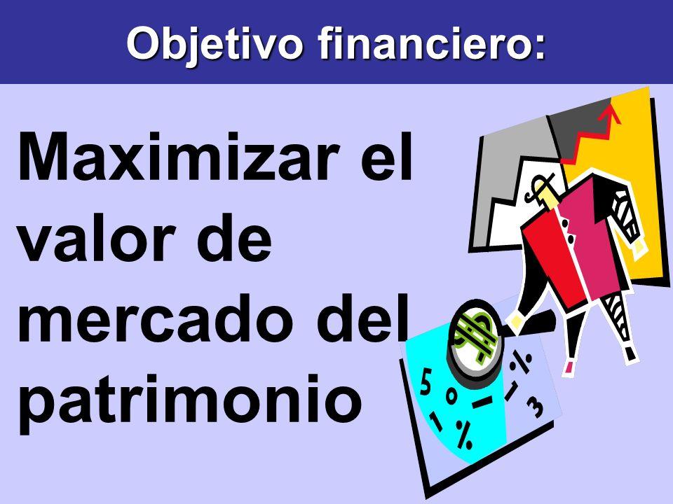 Objetivo financiero: Maximizar el valor de mercado del patrimonio