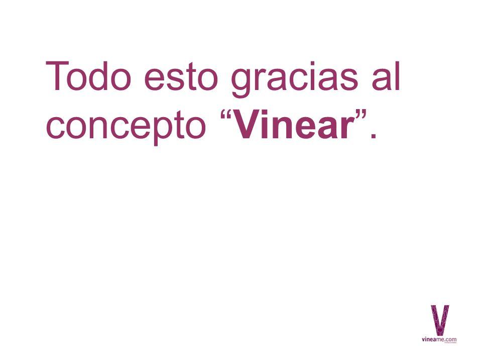 Todo esto gracias al concepto Vinear.