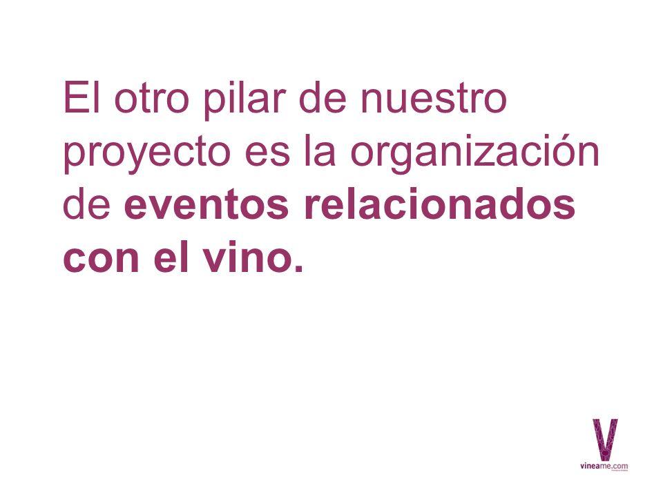 El otro pilar de nuestro proyecto es la organización de eventos relacionados con el vino.