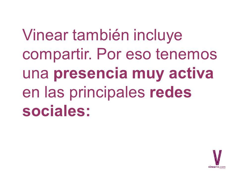 Vinear también incluye compartir.