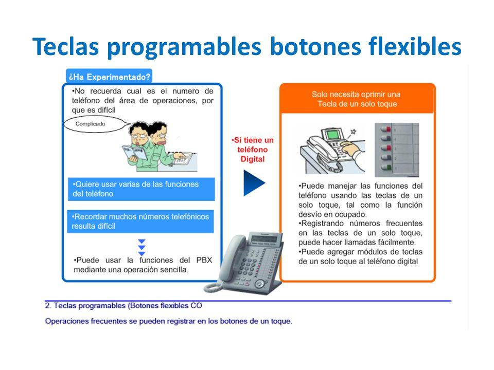 Teclas programables botones flexibles