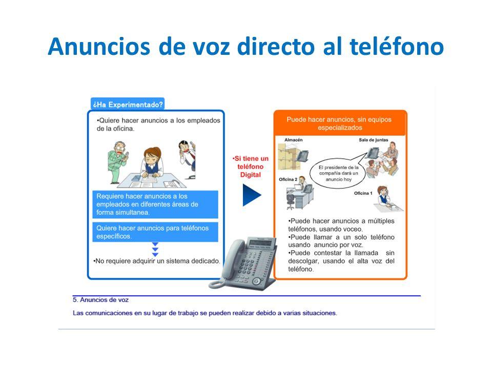 Anuncios de voz directo al teléfono