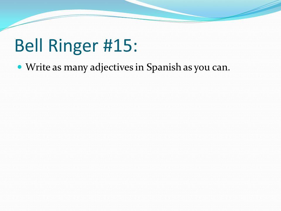 Bell Ringer #21: Completa con SER o ESTAR.1. Yo ____ enfermo.