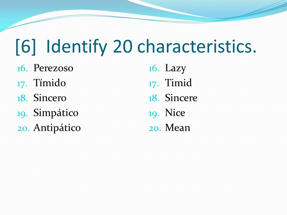 [16] Identify Chapter 8 Palabras 2.1. La garganta 2.