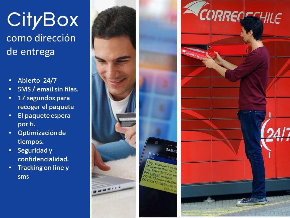 Abierto 24/7 SMS / email sin filas. 17 segundos para recoger el paquete El paquete espera por ti. Optimización de tiempos. Seguridad y confidencialida