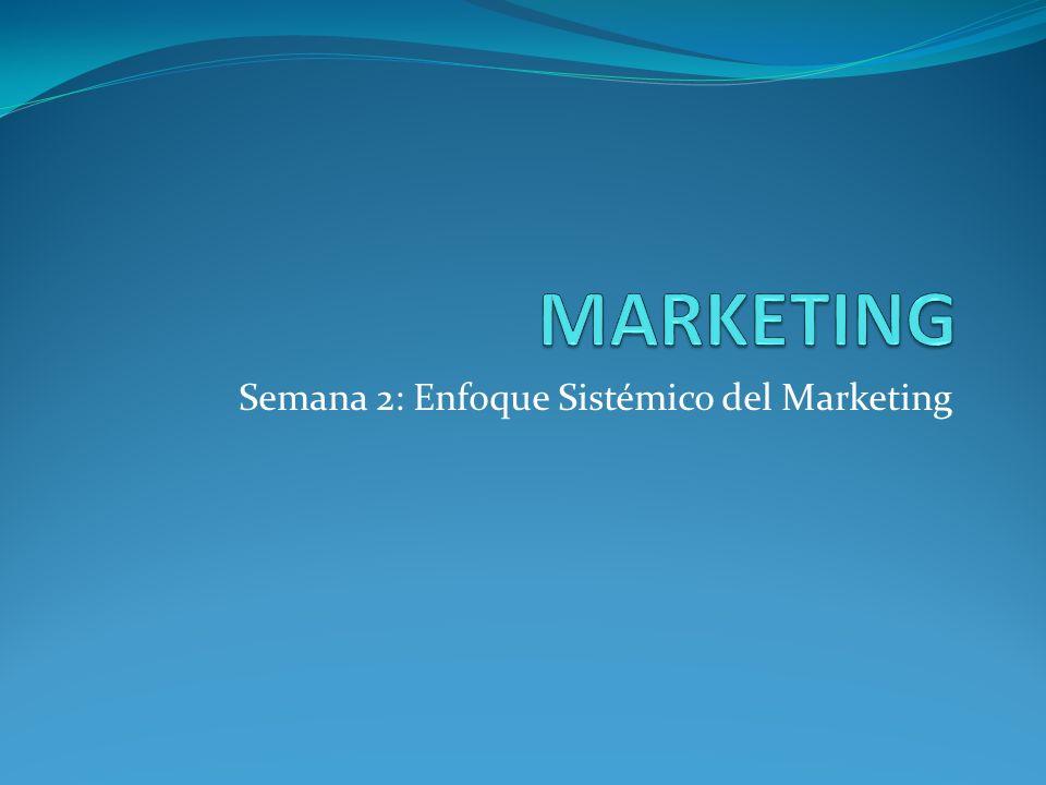 Semana 2: Enfoque Sistémico del Marketing