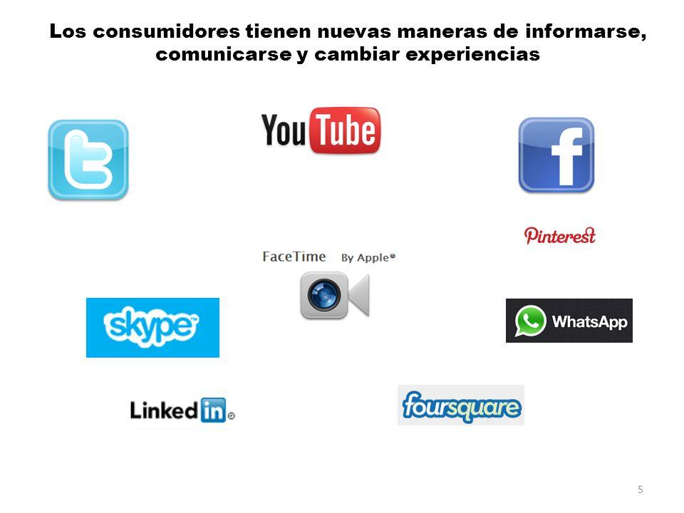 Los consumidores tienen nuevas maneras de informarse, comunicarse y cambiar experiencias 5