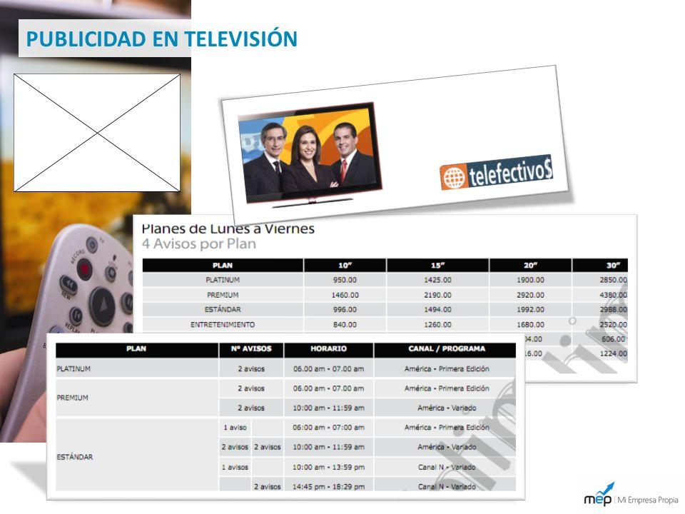 TELEVISIÓN PUBLICIDAD EN TELEVISIÓN