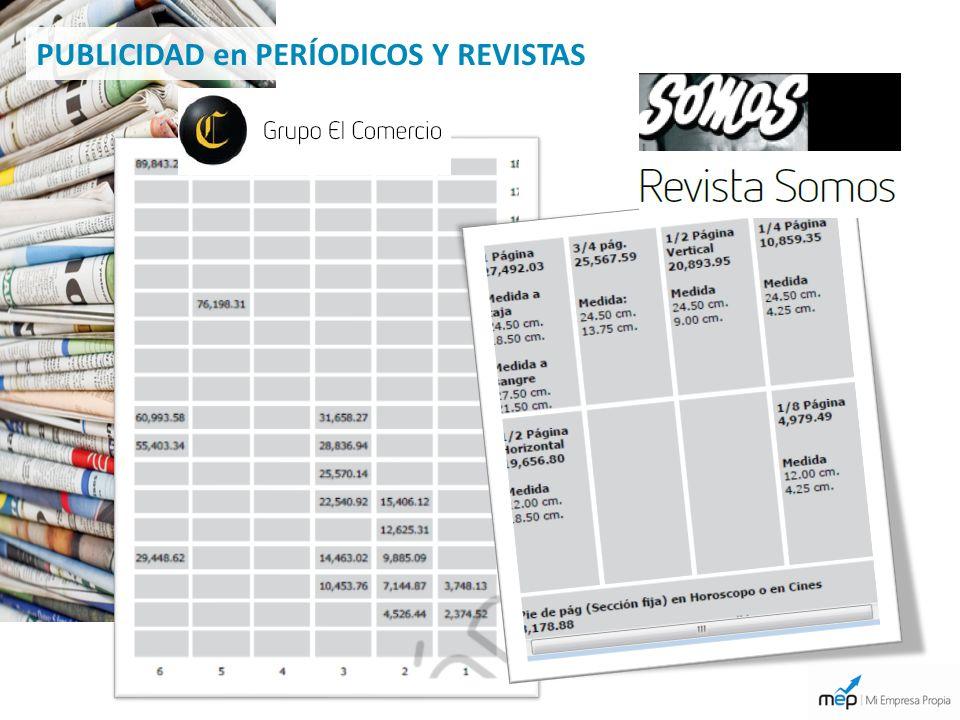 PUBLICIDAD en PERÍODICOS Y REVISTAS