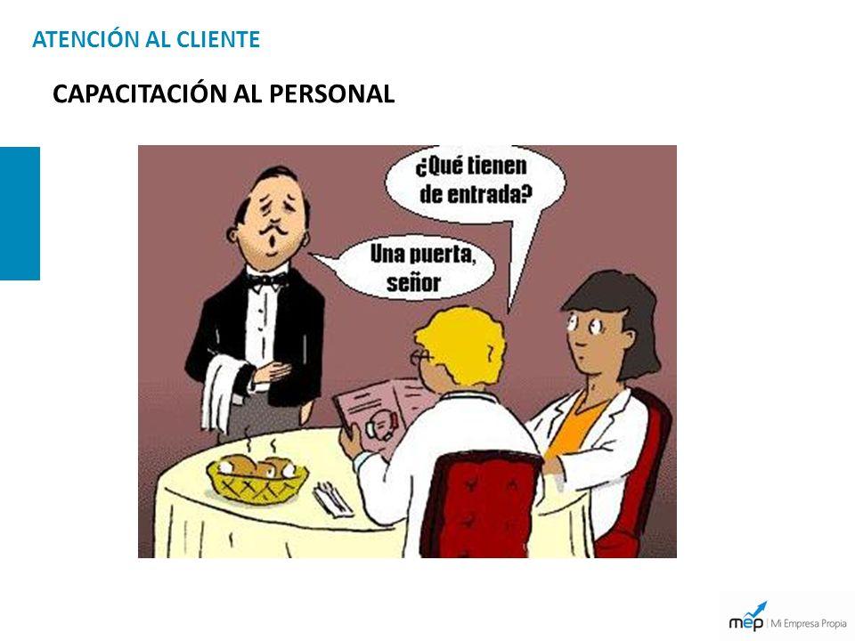 ATENCIÓN AL CLIENTE CAPACITACIÓN AL PERSONAL
