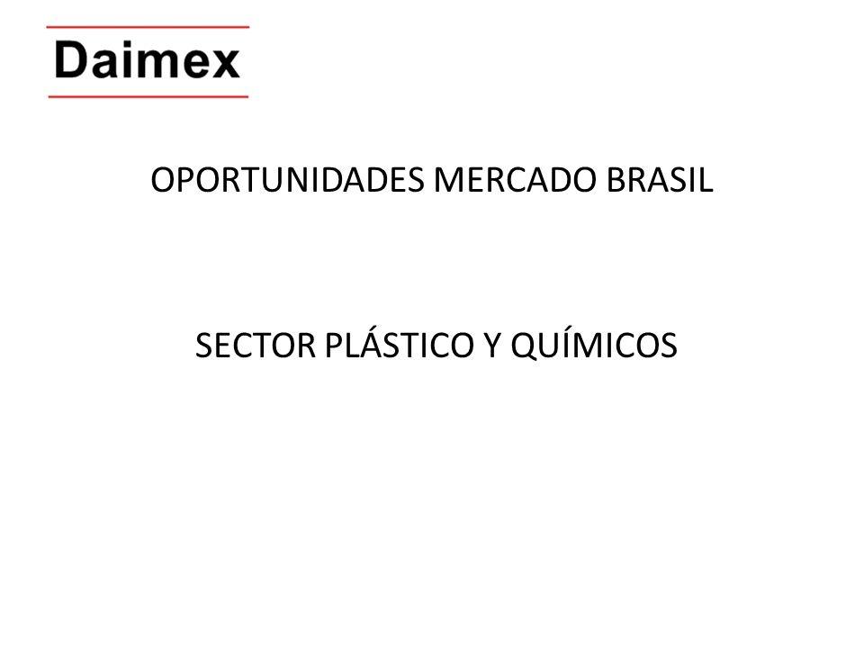 OPORTUNIDADES MERCADO BRASIL SECTOR PLÁSTICO Y QUÍMICOS