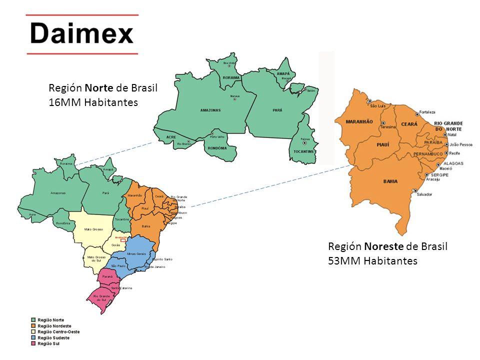 La Region Norte-Noreste de Brasil es visiblemente rica.