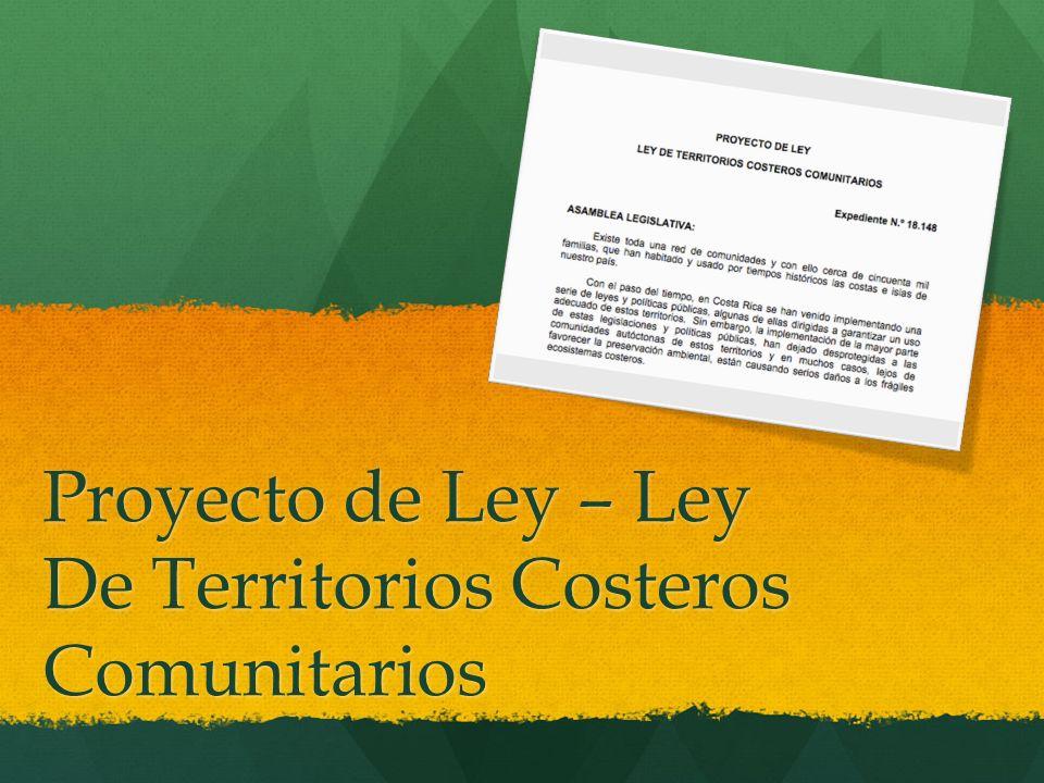 Proyecto de Ley – Ley De Territorios Costeros Comunitarios