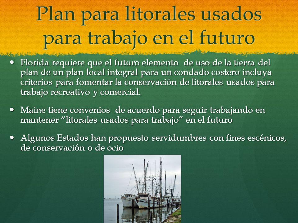 Plan para litorales usados para trabajo en el futuro Florida requiere que el futuro elemento de uso de la tierra del plan de un plan local integral pa
