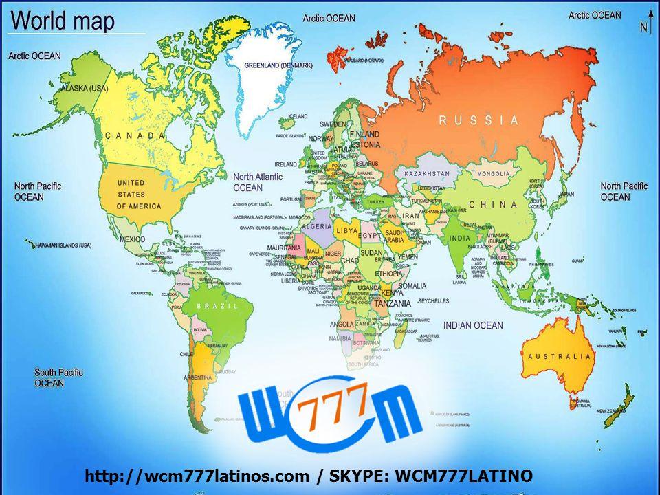 Con presencia en todo el mundo http://wcm777latinos.com / SKYPE: WCM777LATINO