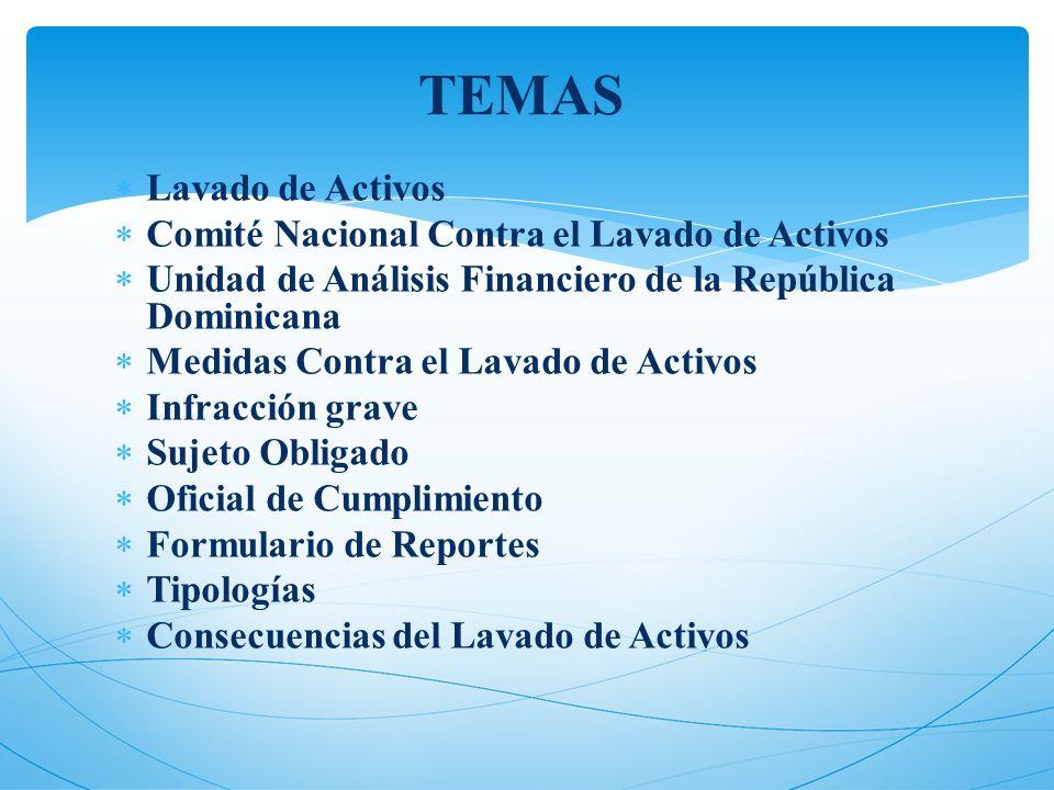 Lavado de Activos Comité Nacional Contra el Lavado de Activos Unidad de Análisis Financiero de la República Dominicana Medidas Contra el Lavado de Act