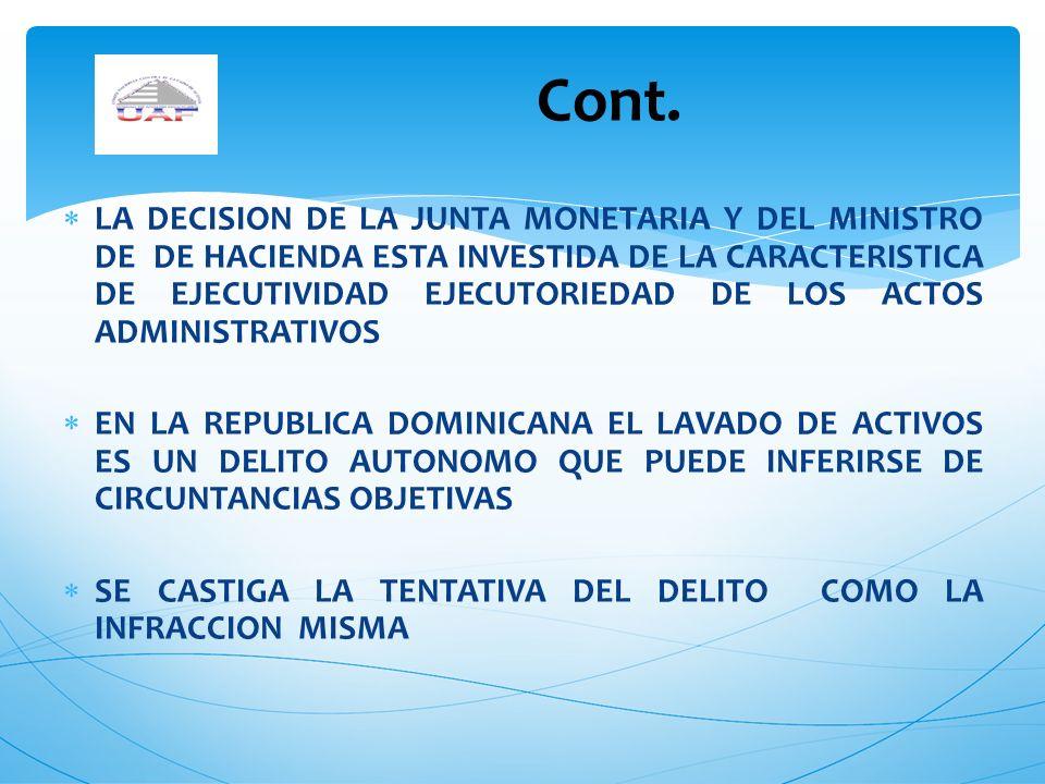 LA DECISION DE LA JUNTA MONETARIA Y DEL MINISTRO DE DE HACIENDA ESTA INVESTIDA DE LA CARACTERISTICA DE EJECUTIVIDAD EJECUTORIEDAD DE LOS ACTOS ADMINIS