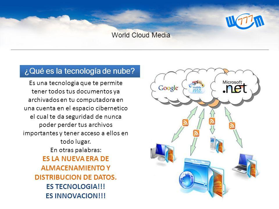 World Cloud Media ¿Qué es la tecnología de nube.