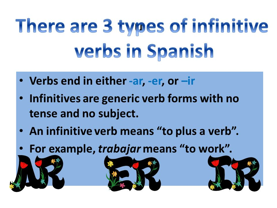 Regular –er verb conjugation Each subject pronoun has an ending that is assigned to it.