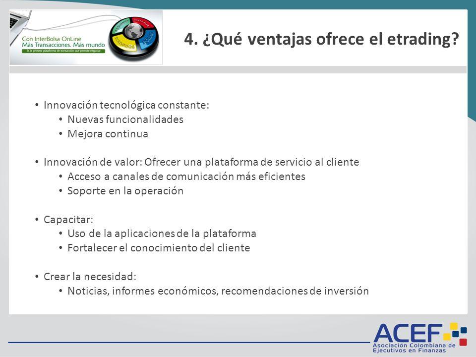 1.¿Qué es? 2.Requisitos técnicos 3.Tarifas 4.¿Cómo funciona? 5.Metodología de negociación 6.Ingreso / Inicio / Menú Innovación tecnológica constante: