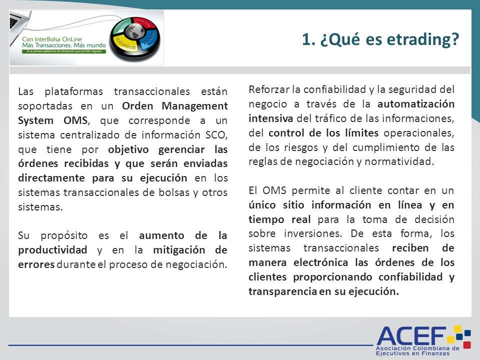 1.¿Qué es? 2.Requisitos técnicos 3.Tarifas 4.¿Cómo funciona? 5.Metodología de negociación 6.Ingreso / Inicio / Menú Reforzar la confiabilidad y la seg