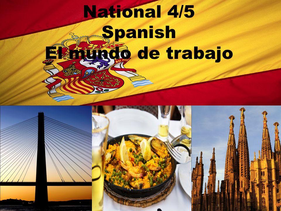 National 4/5 Spanish El mundo de trabajo