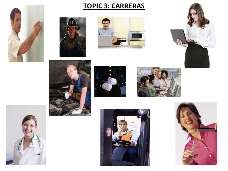 TOPIC 3: CARRERAS