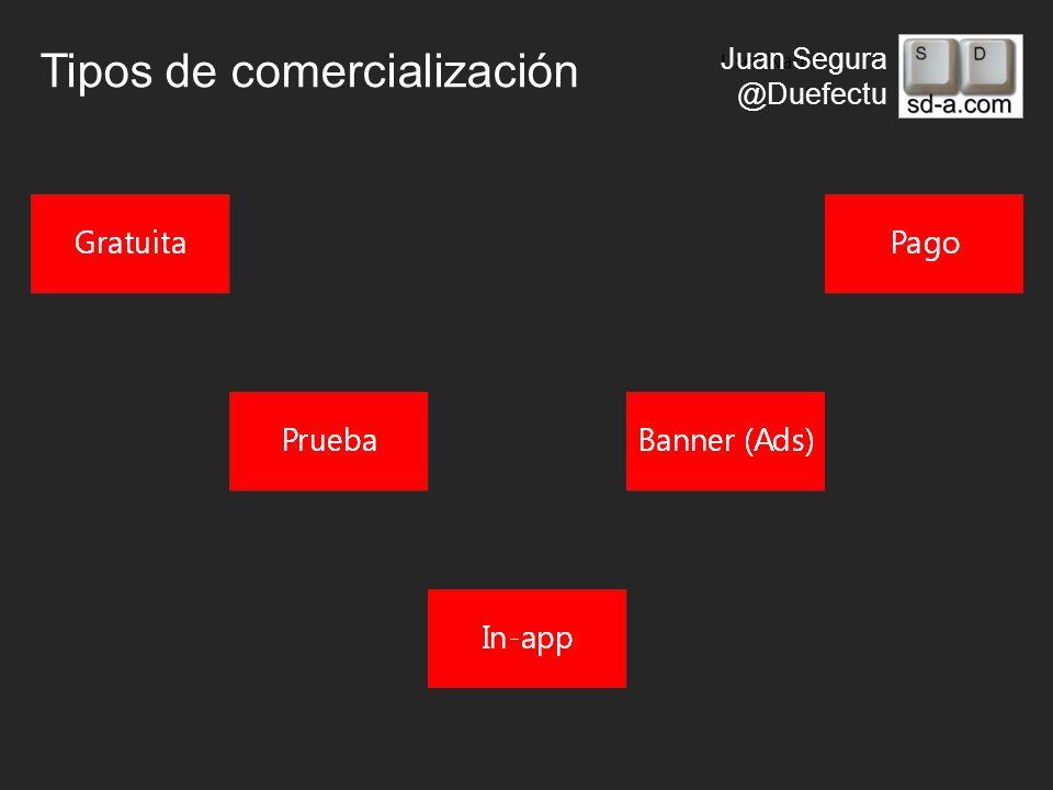 User Name Juan Segura @Duefectu Tipos de comercialización