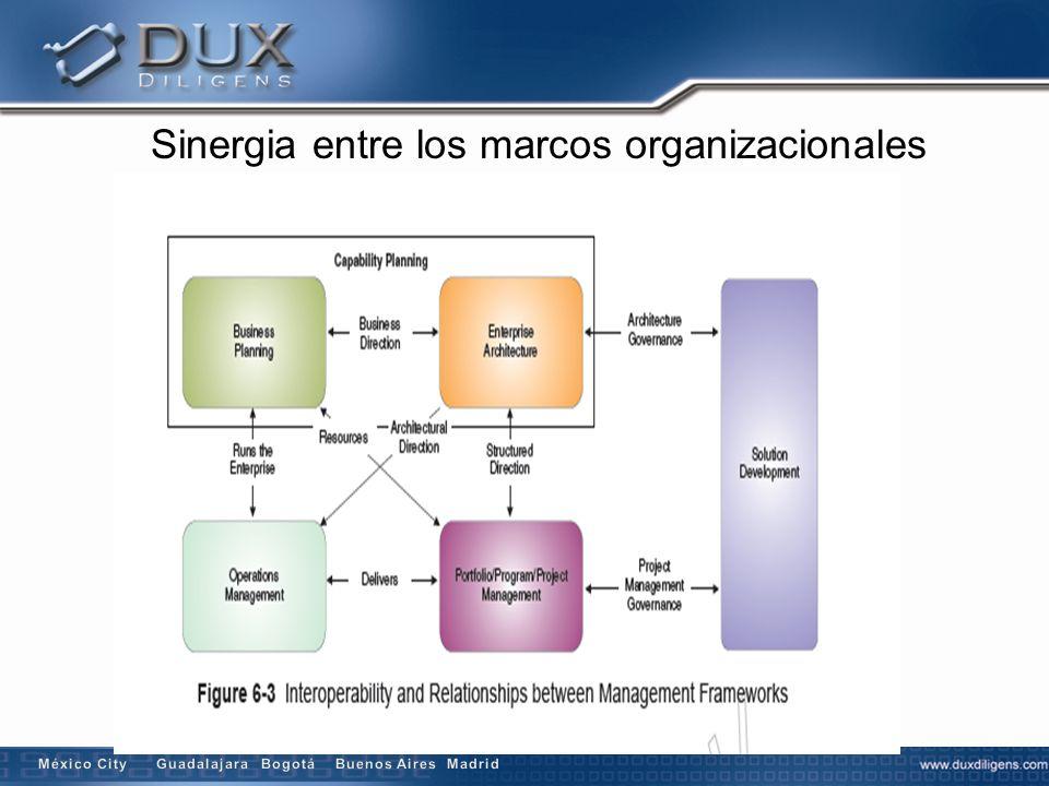 Sinergia entre los marcos organizacionales